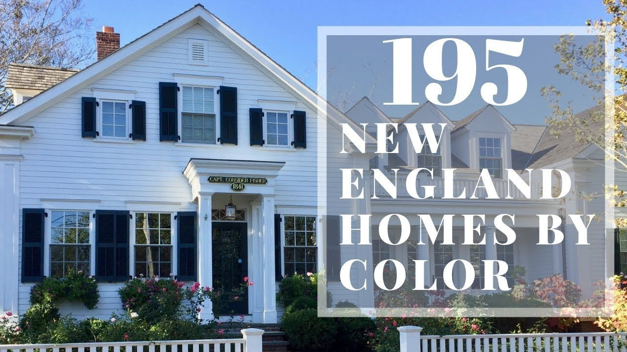 New England style homes by color Paint color ideas for homes