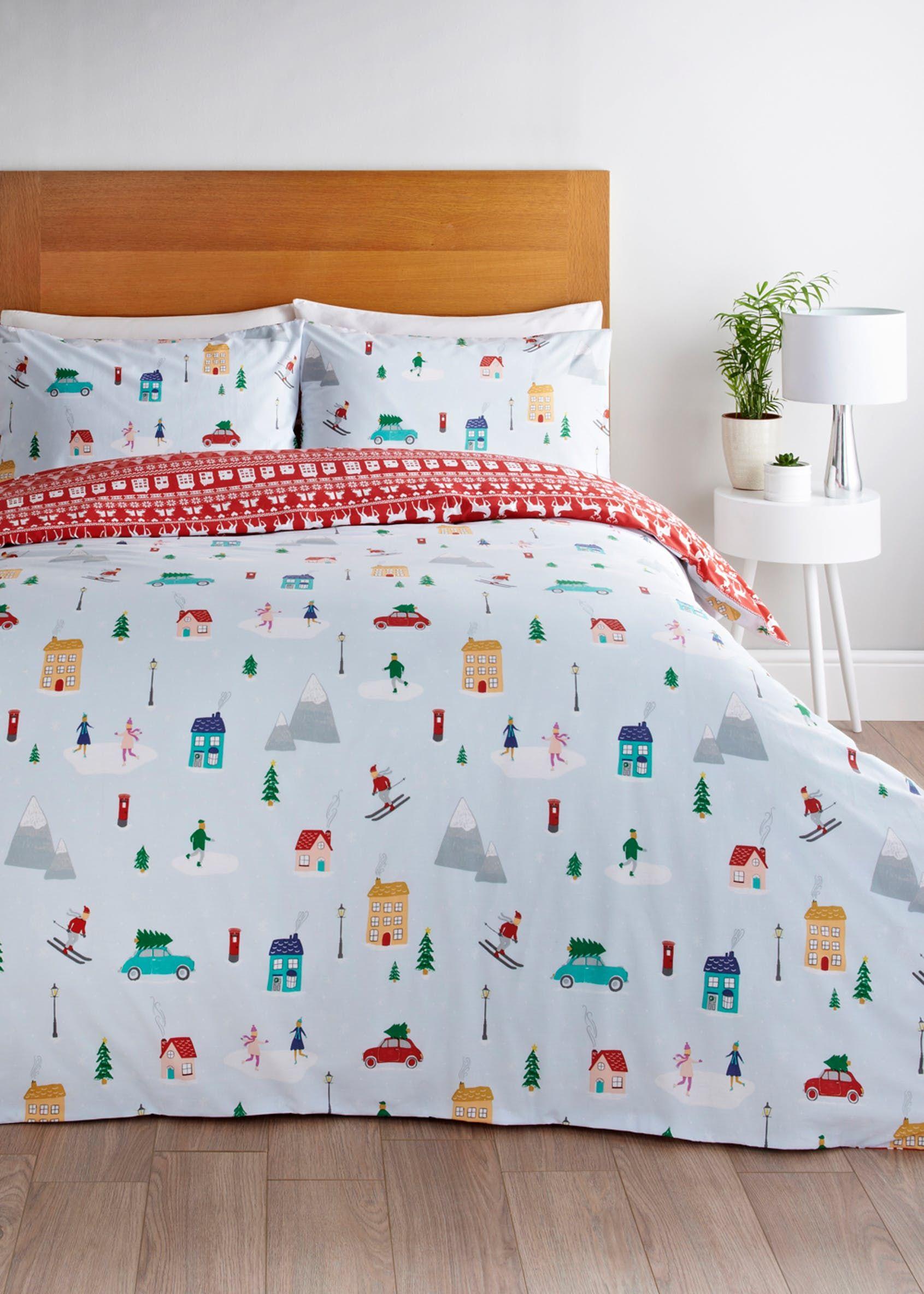 Ski Christmas Duvet Cover Multi Duvet Bedding Sets Christmas