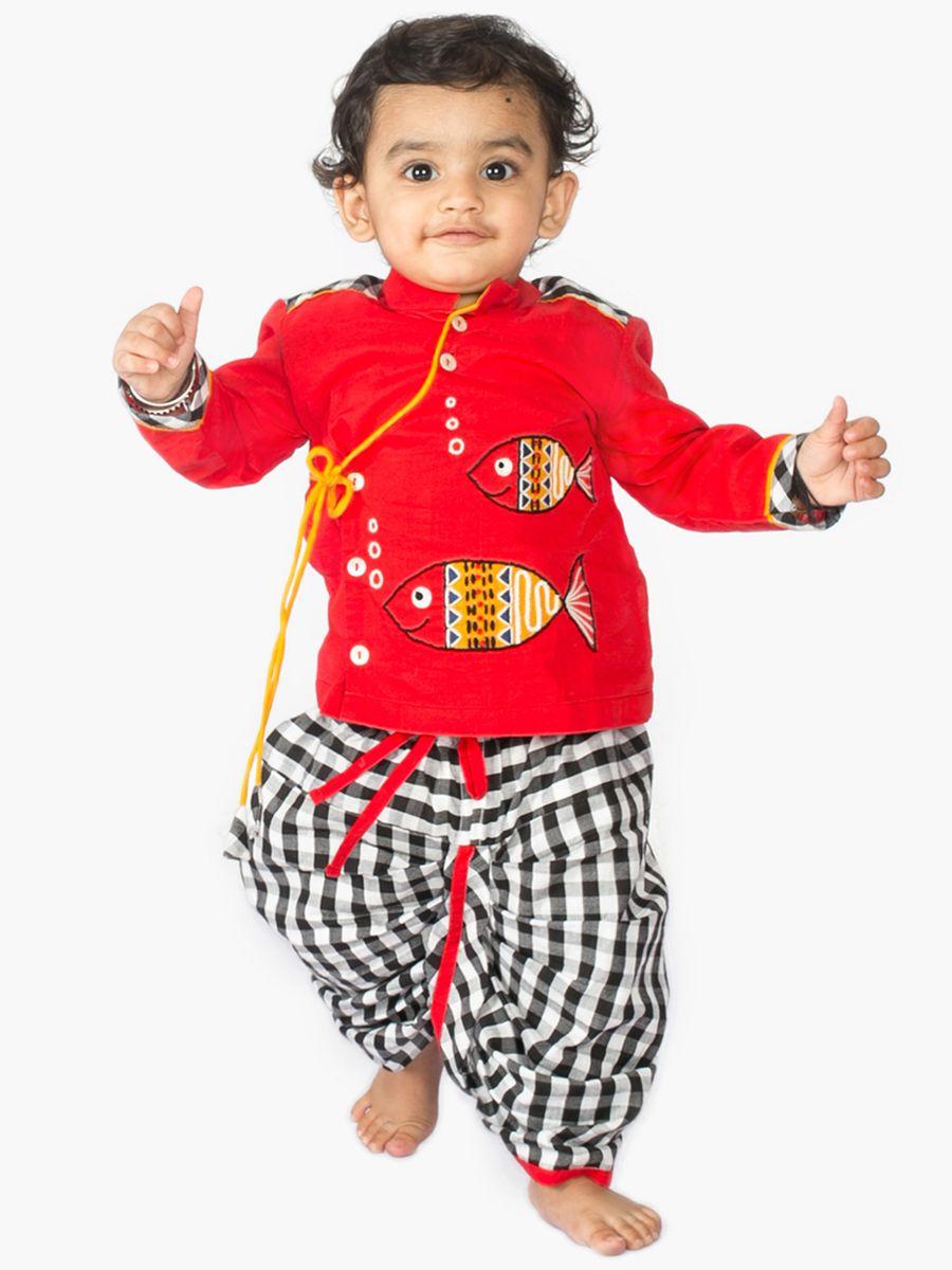 5379762f8ae0c Buy Fishy Dhoti Kurta Set Baby Boy Dress, Baby Dresses, Mens Kurta Designs,