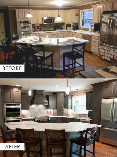 Before & After | Hermitage Kitchen Design Gallery | Designer Terri ...