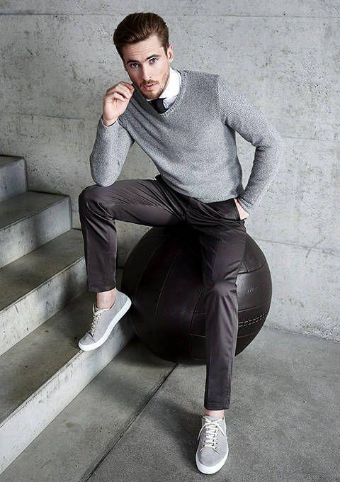 Legeres Frühlingsoutfit in weiß und grau. | Windsor