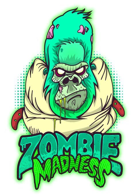 quite nice b861a bea02 Zombie Madness on Behance. Zombie Madness on Behance Illustration Main,  Digital Illustration, Monkey Art, Cartoon Design,