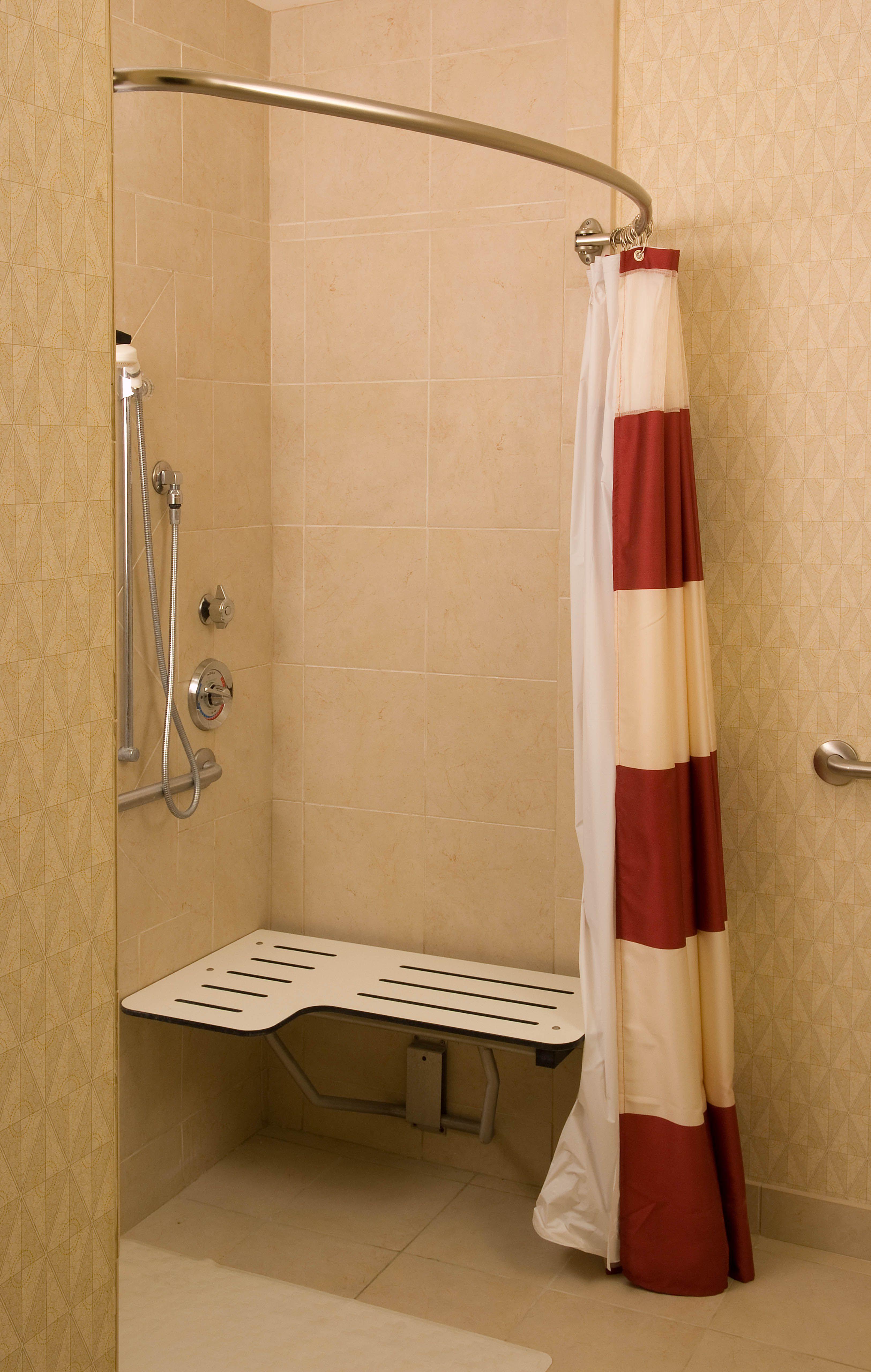 Residence Inn Ft. Myers Sanibel Hotel-Guest Bathroom ADA Shower http://www.marriott.com/hotels/event-planning/travel/rswrs-residence-inn-fort-myers-sanibel/