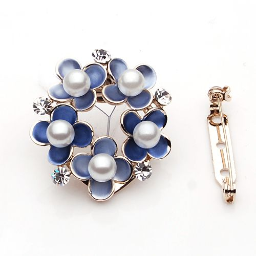 Trendy Flower Shaped Pins Buckles Brooches