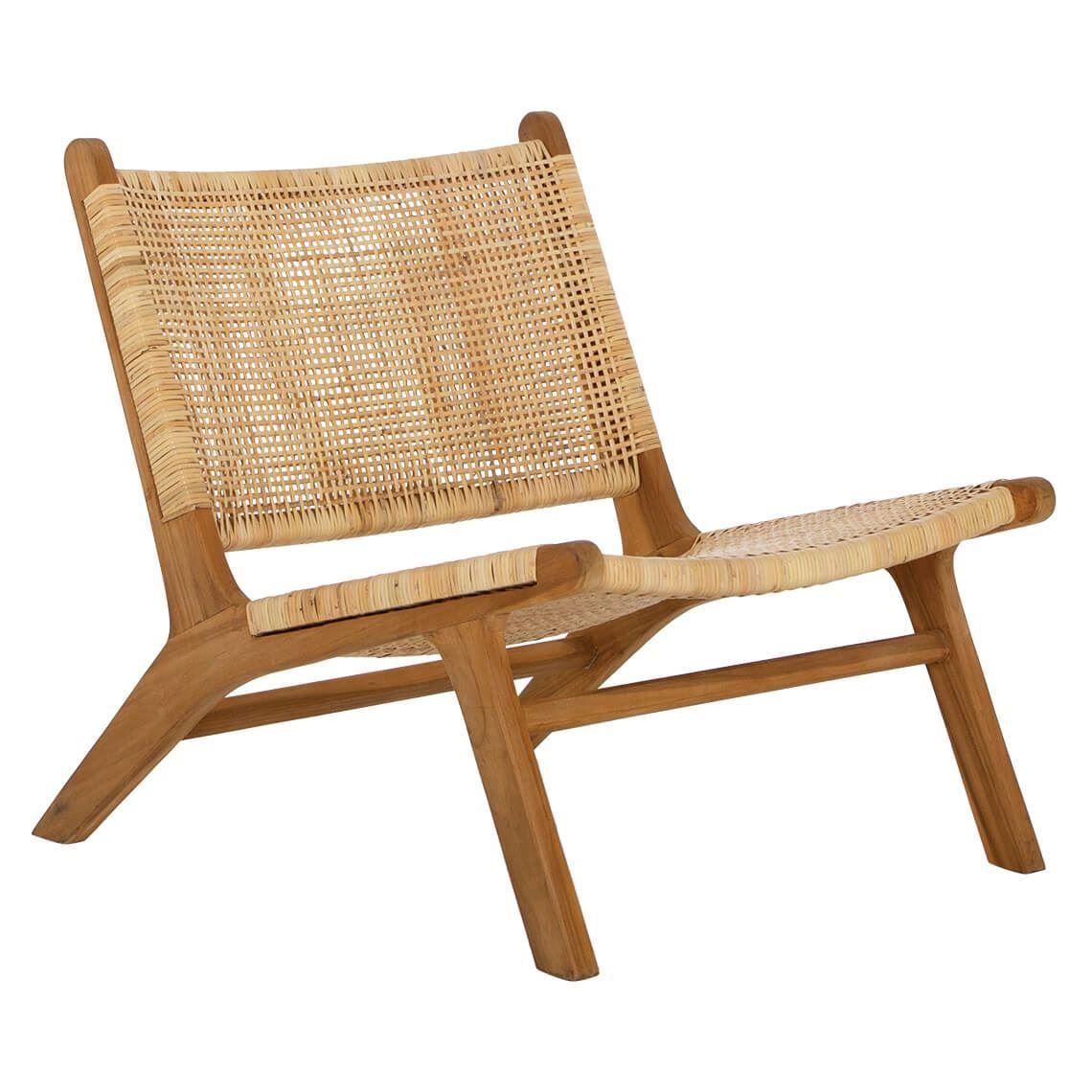 Santai Occasional Chair Woven Chair Teak Lounge Chair Dovetail