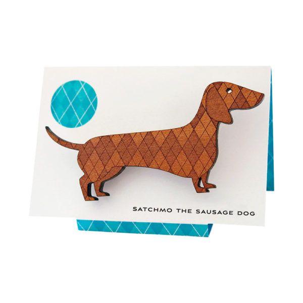 Satchmo The Sausage Dog Brooch Dachshund Art Dachshund Sausage