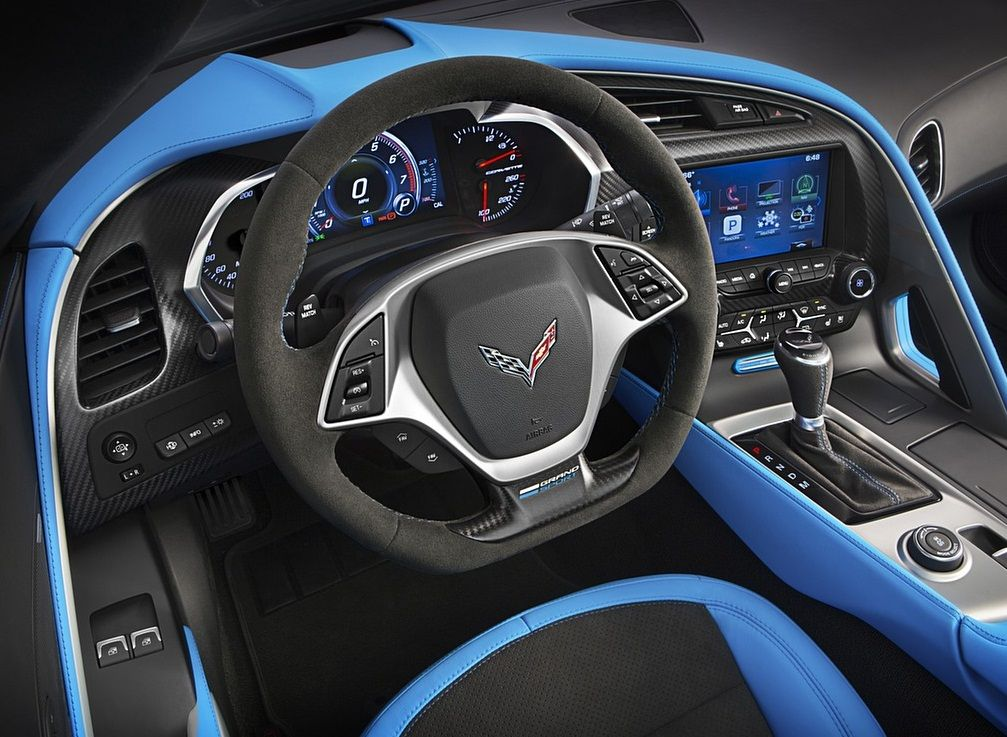 The black becomes the basic color of the 2017 corvette grand sport.