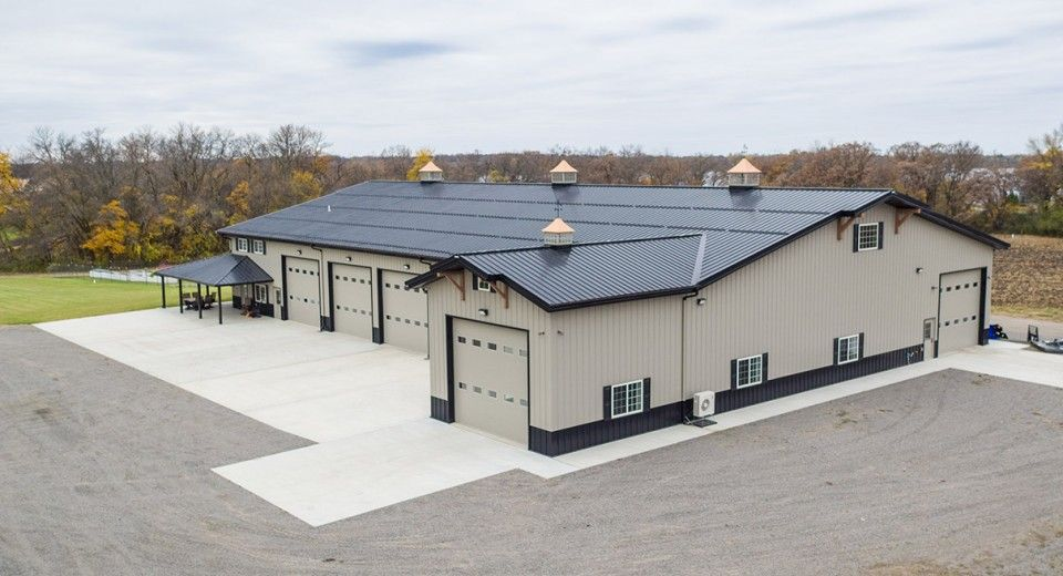 This Hangar Was Built For Dave Of Cambridge Oh Special Features Morton S Hi Rib Steel Hydros Metal Buildings Barn House Plans Pre Engineered Metal Buildings