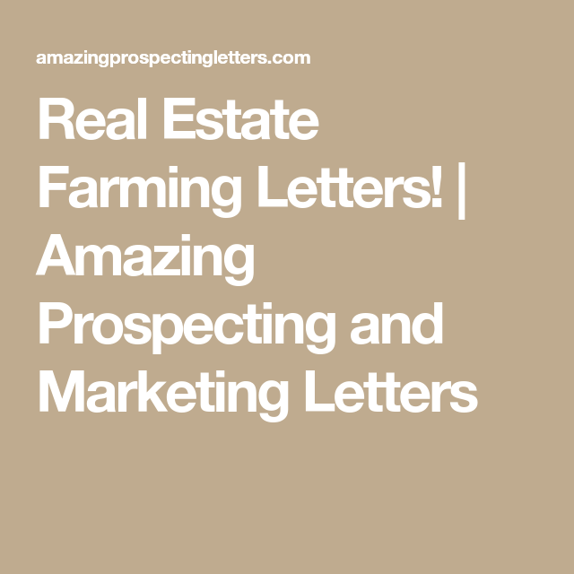 Real Estate Farming Letters   With Images