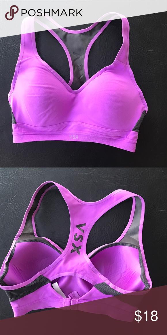 ba00f1b7bbc69 Victoria s Secret Sports bra Victoria s Secret Sexy sports bra. Size 30 to  see the color is purple. Excellent preowned condition. All items come fr…