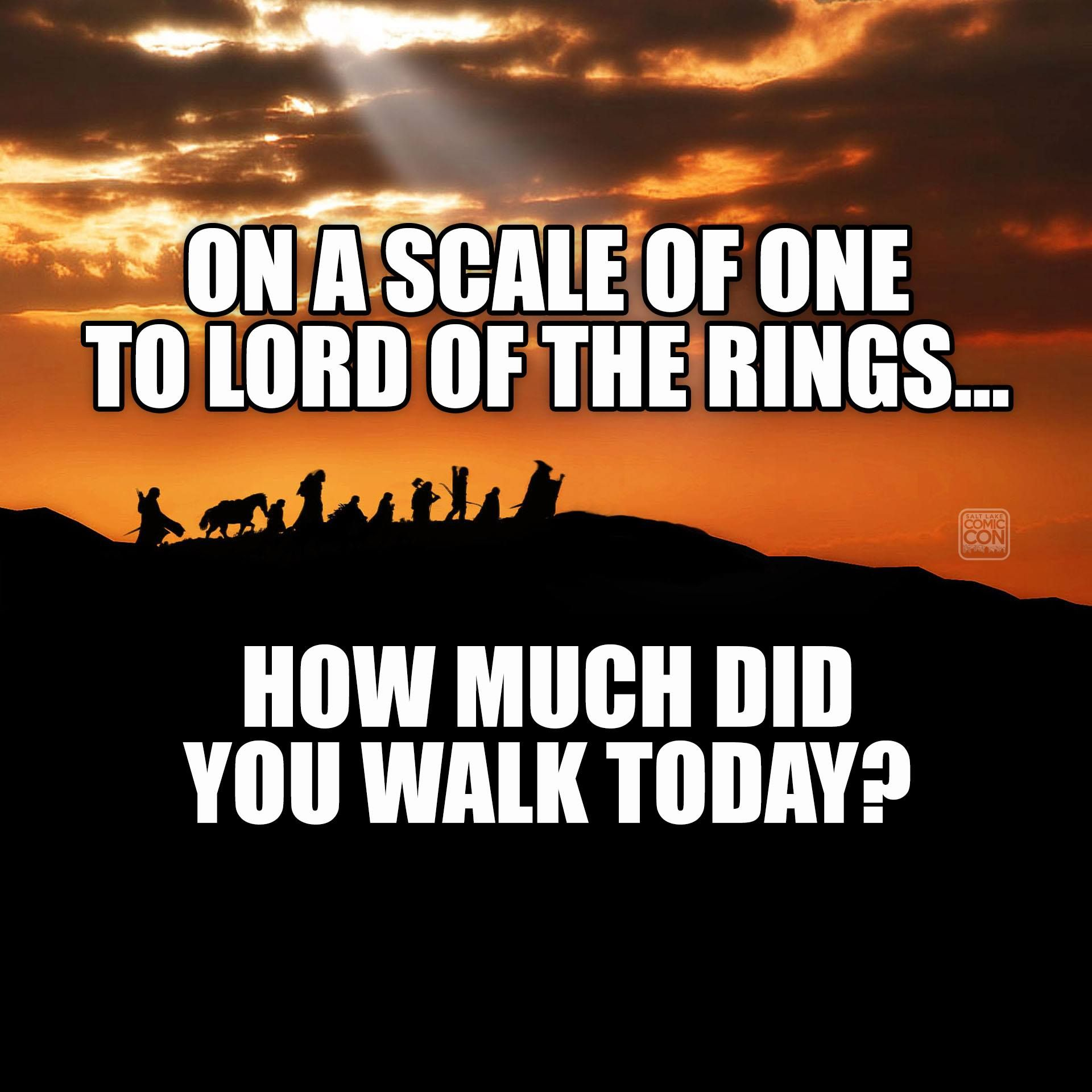 For Our Fitbit Friends... #LOTR / Http://saltlakecomiccon
