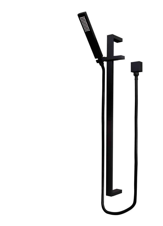 Matte Black Shower Column   Meir Black Taps   Pinterest   Black ...