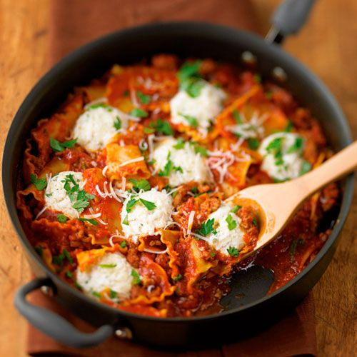 This family favorite delivers all of the flavor of lasagna in half of the time. Spicy turkey sausage boosts the flavor.