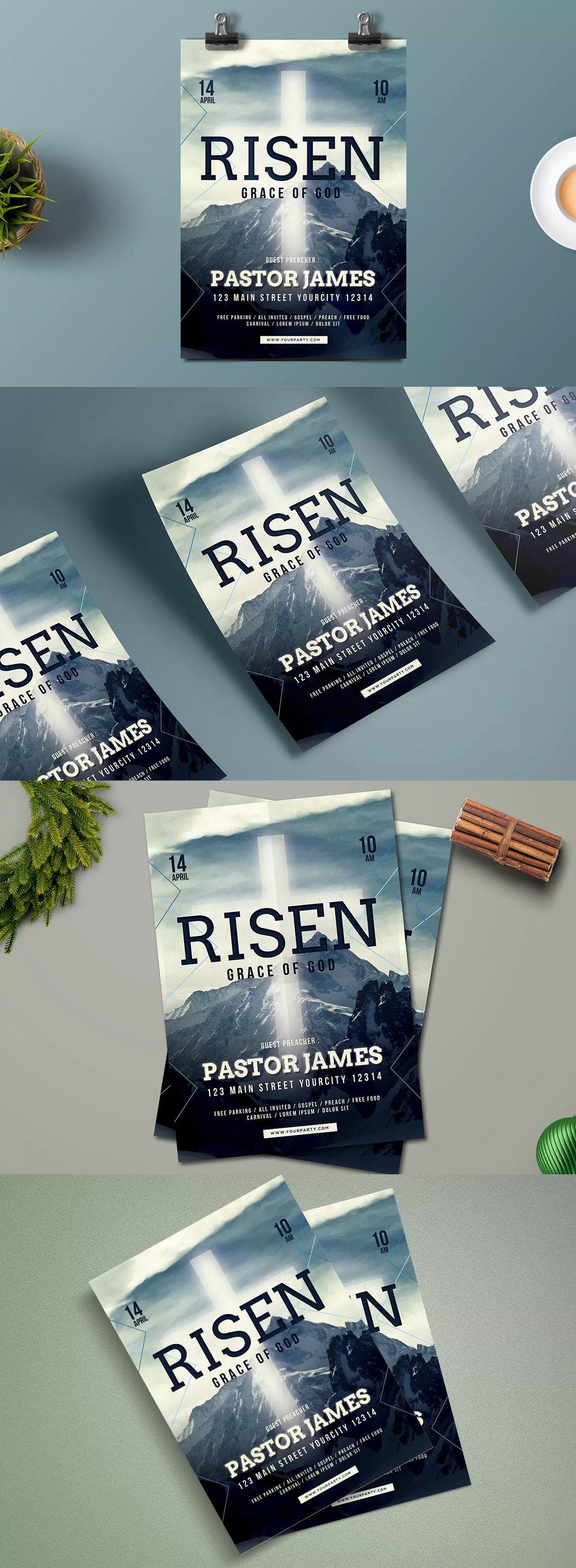 Easter Church Flyer Template Psd Flyer Design Templates