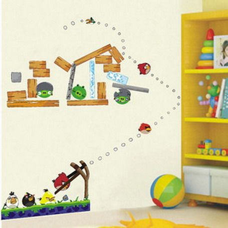 Kids Room Wall Design large size of wallwall art ideas for kids room decals sticker wild life decor Give Kids Bedroom Walls Designs Ideas With Angry Birds Wall Stickers