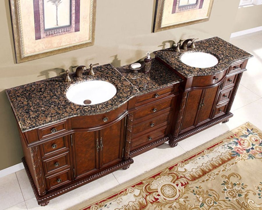 90 Inch Traditional Double Bathroom Vanity With Marble Bathroom Sinks For Sale Bathroom Sink Vanity Bathroom Vanity 90 inch bathroom vanities