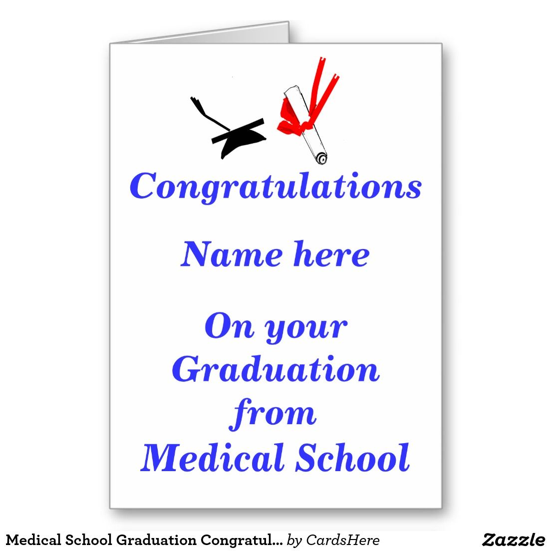 Medical school graduation congratulations greeting card cards medical school graduation congratulations greeting card kristyandbryce Gallery