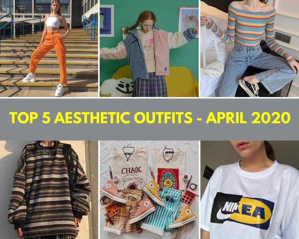 Top 5 Aesthetic Outfits April 2020 In 2020 Aesthetic Clothes Tumblr Outfits Outfits
