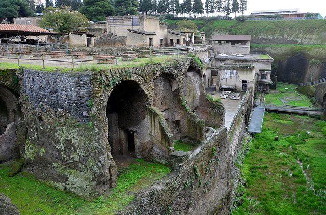 Barrel arches originally opening onto beach, Herculaneum (1) | Flickr - Photo Sharing!