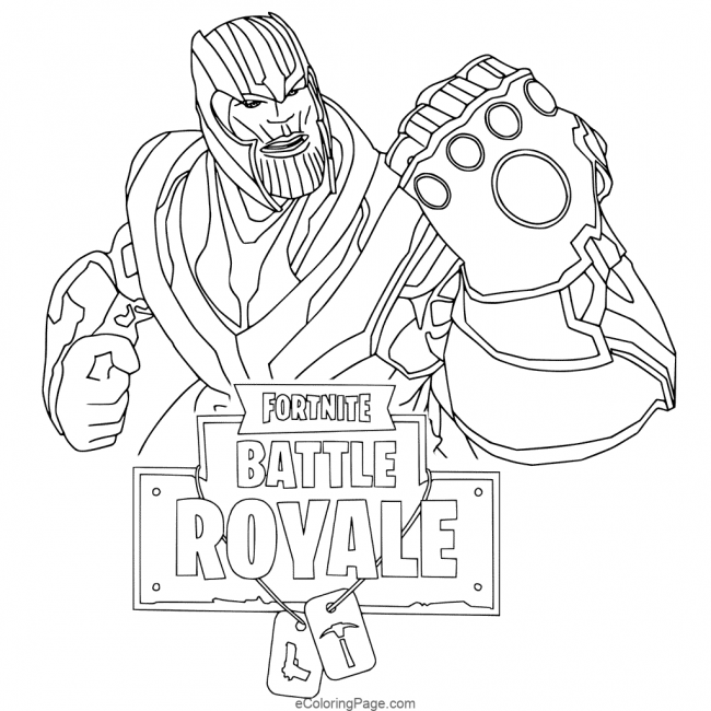 Fortnite Thanos Printable Coloring Page Coloring Pages For Kids