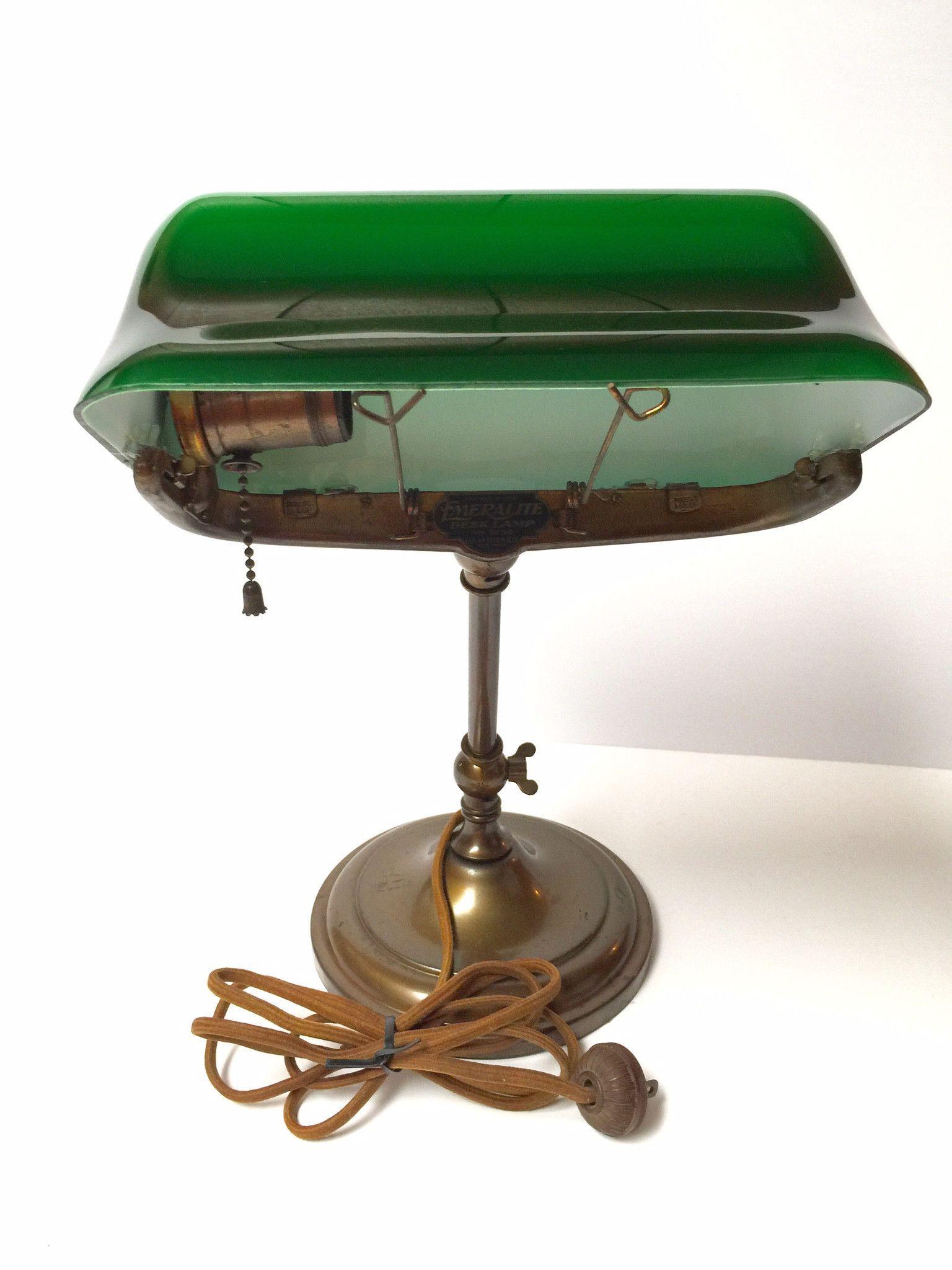 Emeralite Desk Banker\u0027s Lamp 8734 McFaddin Co. Circa 1916 Original ...