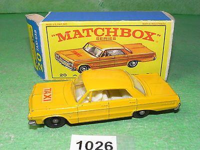 Vintage Matchbox Lesney Diecast Series Boxed 20 Taxi Cab (1026) - http://www.matchbox-lesney.com/33554