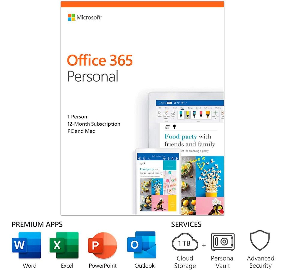 Microsoft Office 365 Personal 1 Year Subscription In 2020 Office 365 Personal Microsoft Office Microsoft