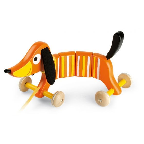 Pull Along Crazy Dog Children S Wooden Toy From Janod Buy It From