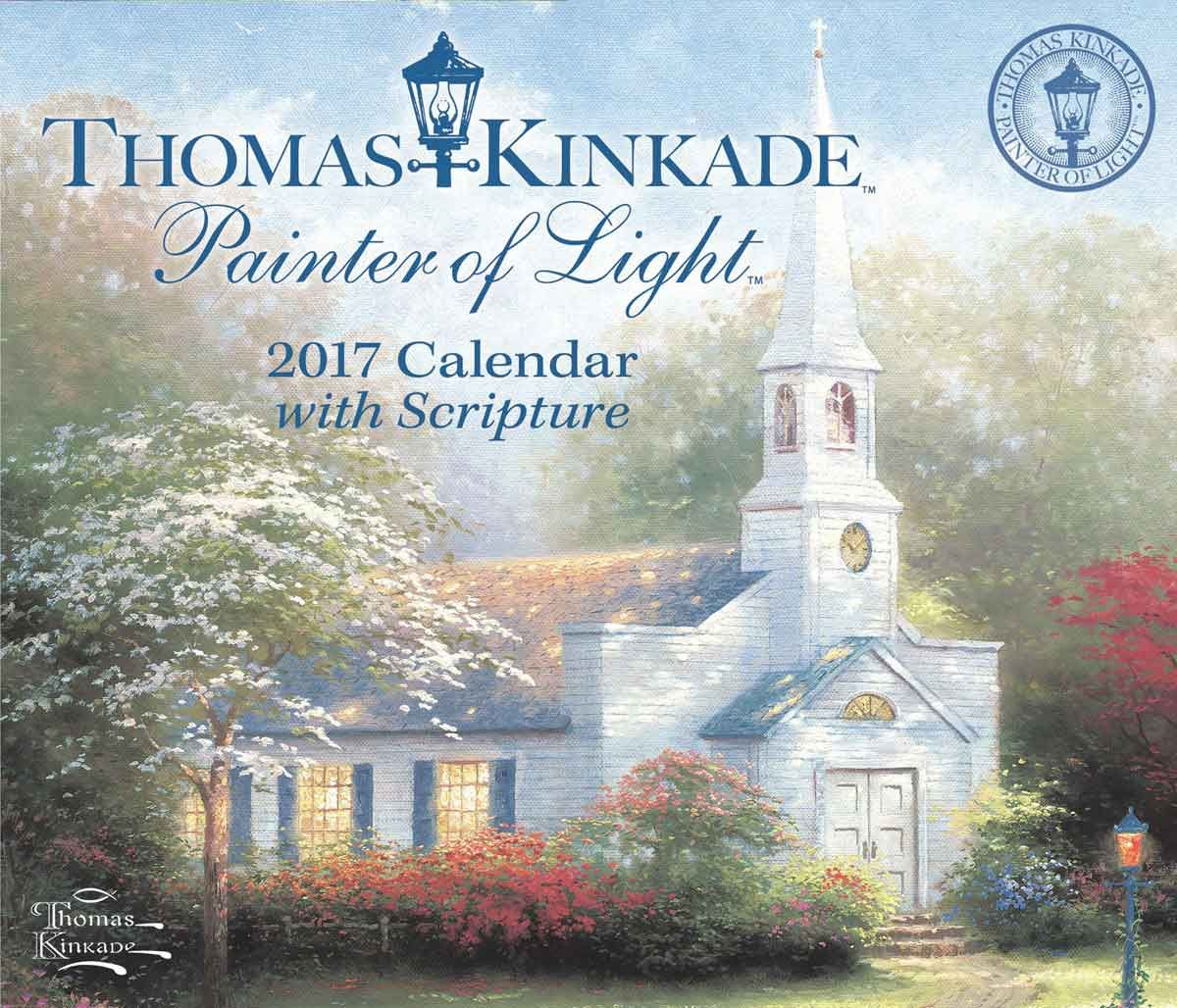 Kinkade Painter Of Light Scripture Desk Calendar 2017