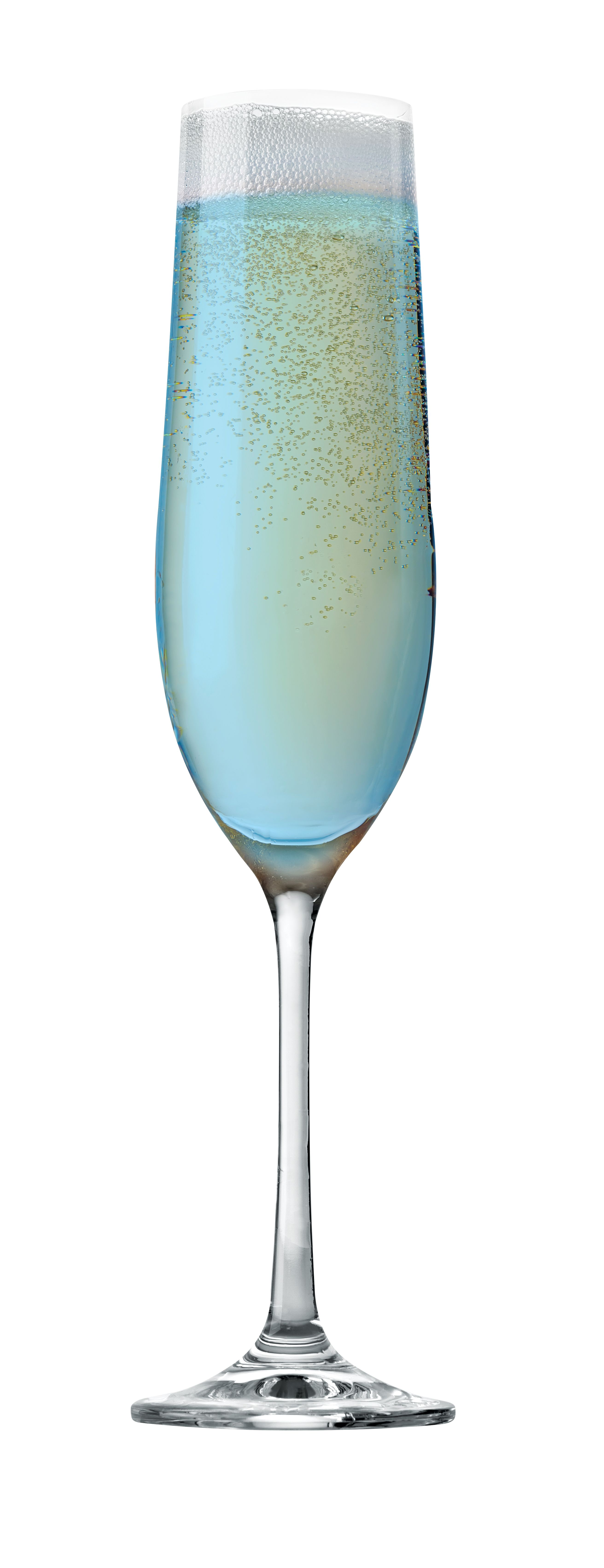 Lost in Love: 2 oz. Kinky Blue Liqueur, 1 oz. Caravella Limoncello, Barefoot Bubbly Prosecco. Chill all ingredients, then pour into a Champagne flute; stir gently.