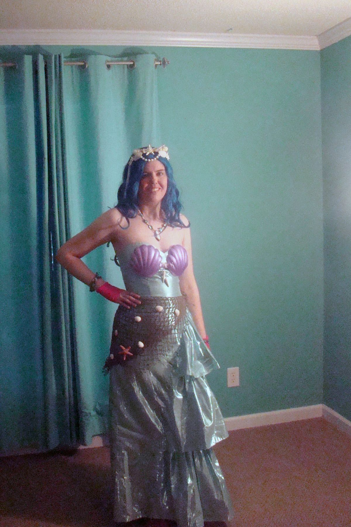 DIY homemade #mermaid #costume. Used an 80s prom dress from a ...