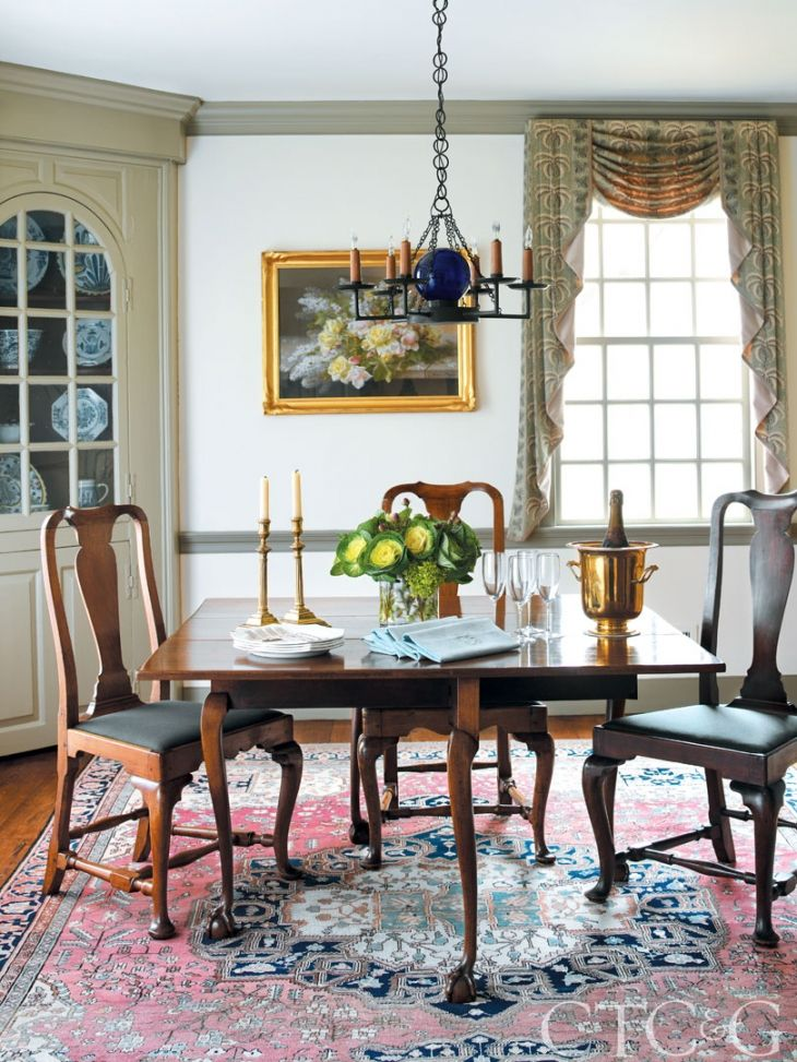 Tour an 18th Century Colonial Home | 1960s living room ...