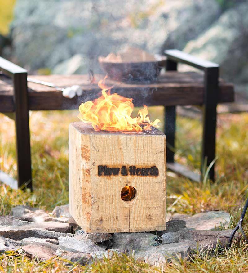 BlazingBlock Portable Outdoor Wood Bonfire is a great idea