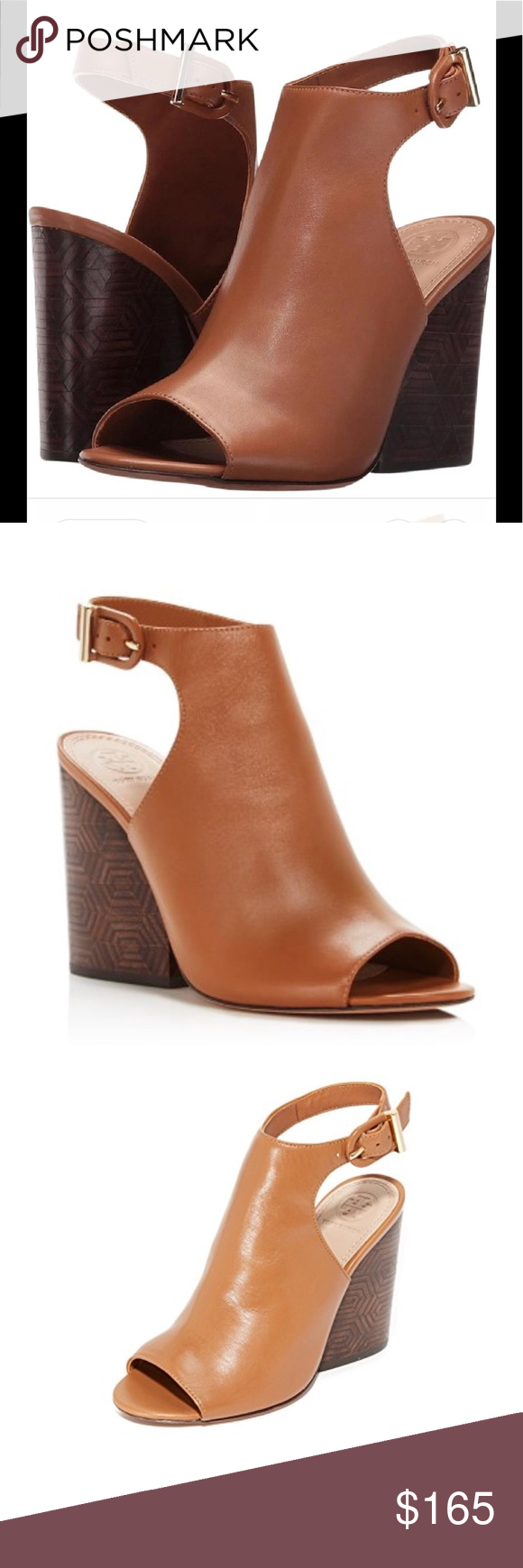 e59e768cca79 Tory Burch open toe bootie New in box Tory Burch Open toe Grove 100mm bootie  royal