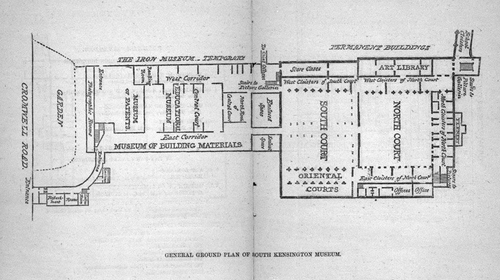 General floor plan for South Kensington Museum, from A Guide to the ...