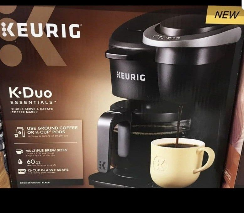 Keurig K-Duo Essentials Coffee Maker, with Single Serve K ...