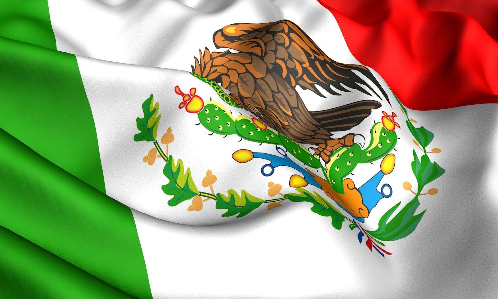 bandera-mexicana-de-mexico-verde-blanco-y-rojo-simbolos-patrios-16 ...