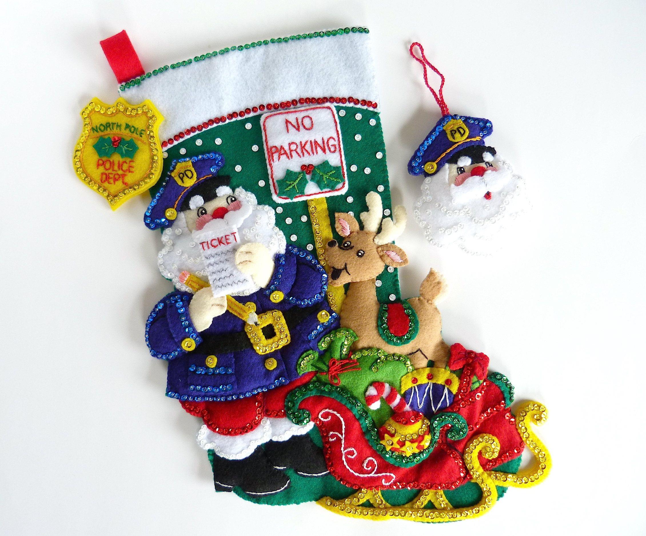 Bucilla Christmas Stocking Finished Bucilla Stocking Personalized ...
