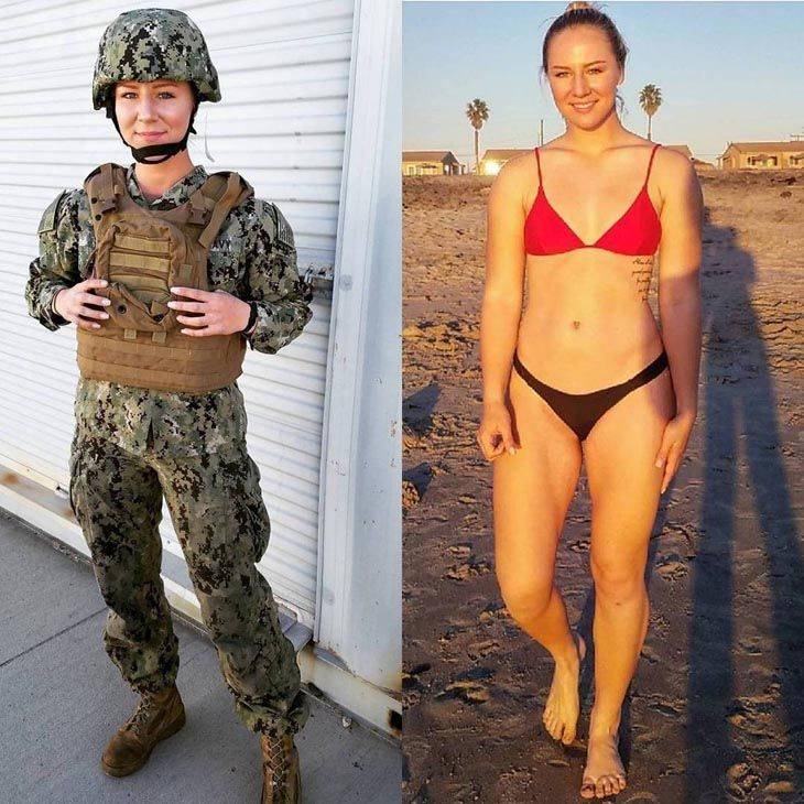 Female marines in bikinis