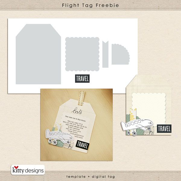 Flight tag free template (psd format) #travel #template #tag - Free Album Templates