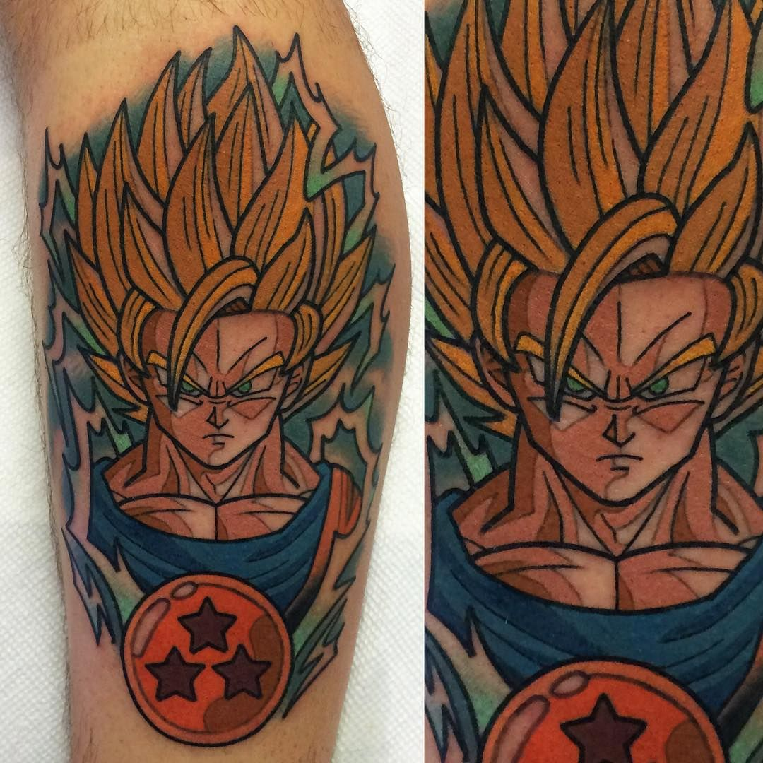 made this today for @yangieff. thanks dude! #tattoo #dragonballz #greenappletattoo