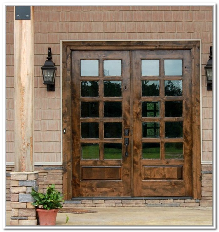 French Doors Exterior Wooden Photo 4 Kitchen Dishes Ideas Oh My