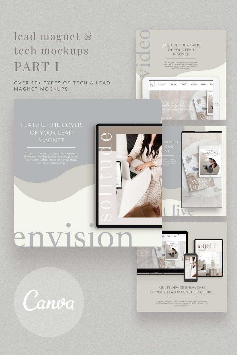 Lead Magnet Tech Mockups Part 1 Instagram Templates For Etsy Ebook Promotion Promotional Design Lead Magnet