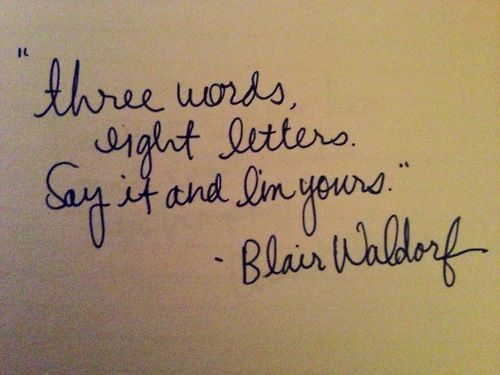 Three words eight letters Say it and I m yours