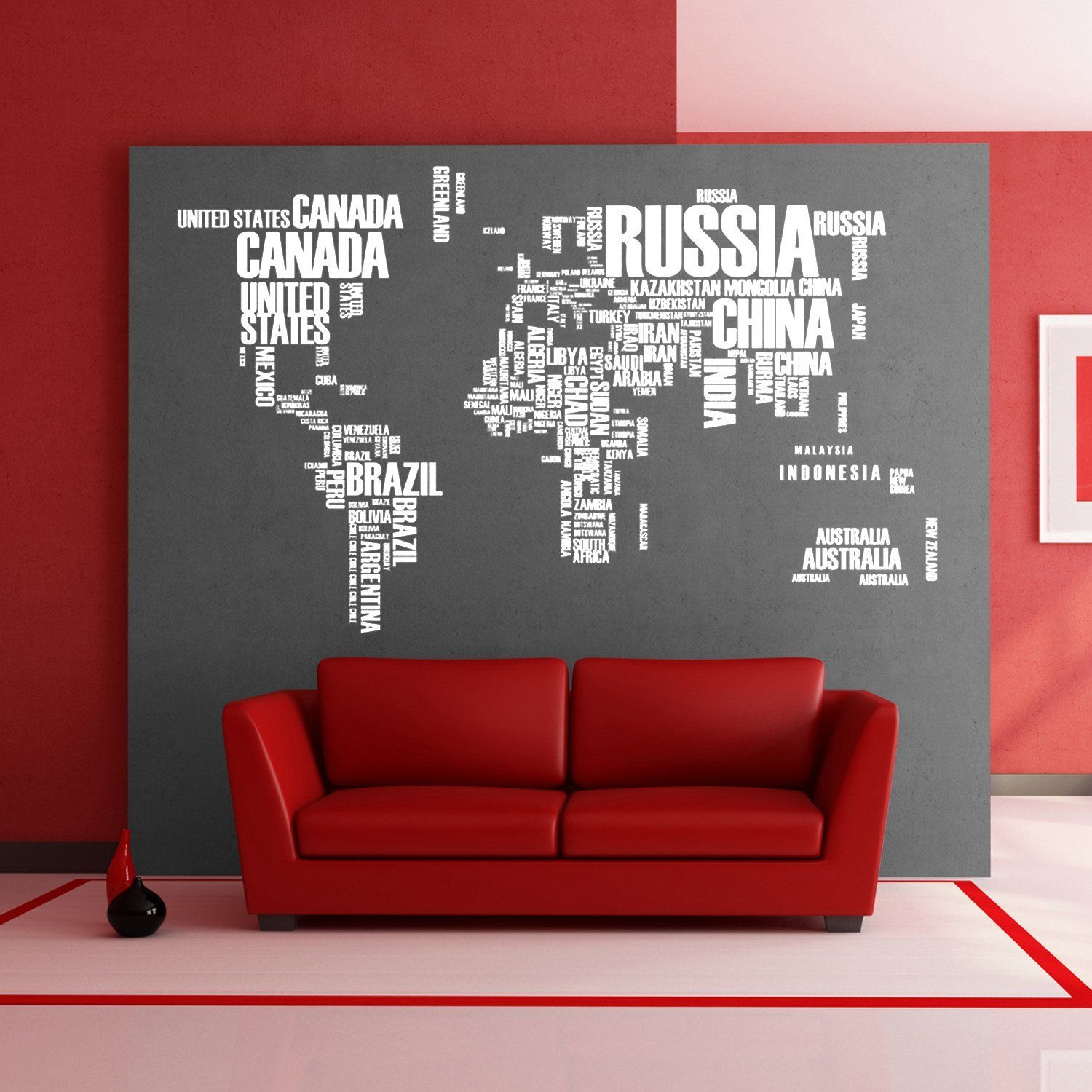 Fabulous large world map pvc wall decal stickers original creative fabulous large world map pvc wall decal stickers original creative letters map wall art vinyl wall stickers for office home decorations for living room gumiabroncs Gallery
