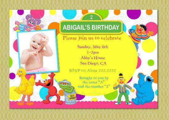 Elmo Sesame Street Birthday Invitation Sesame street birthday