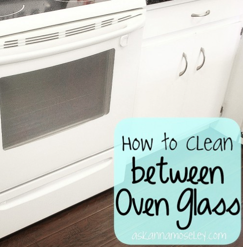 how to clean oven glass uk