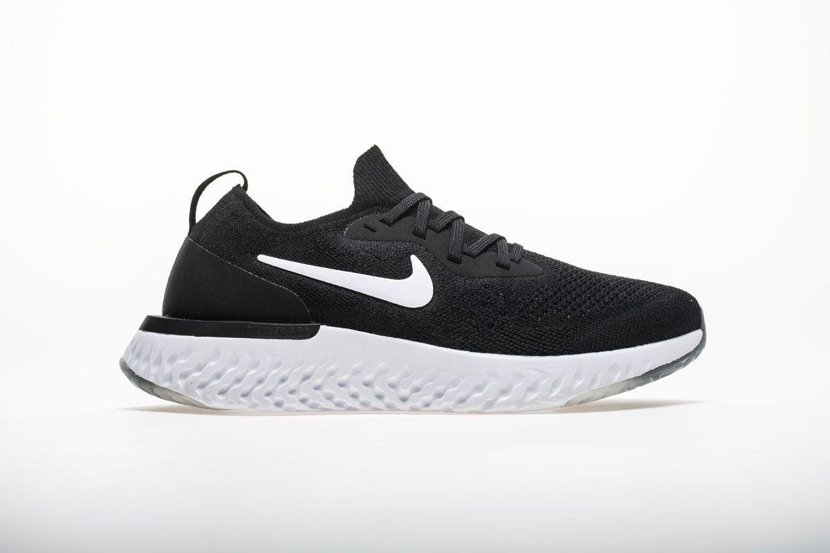 Nike Epic React Flyknit AQ0067-001 Black White Shoes3  4f3d864b4