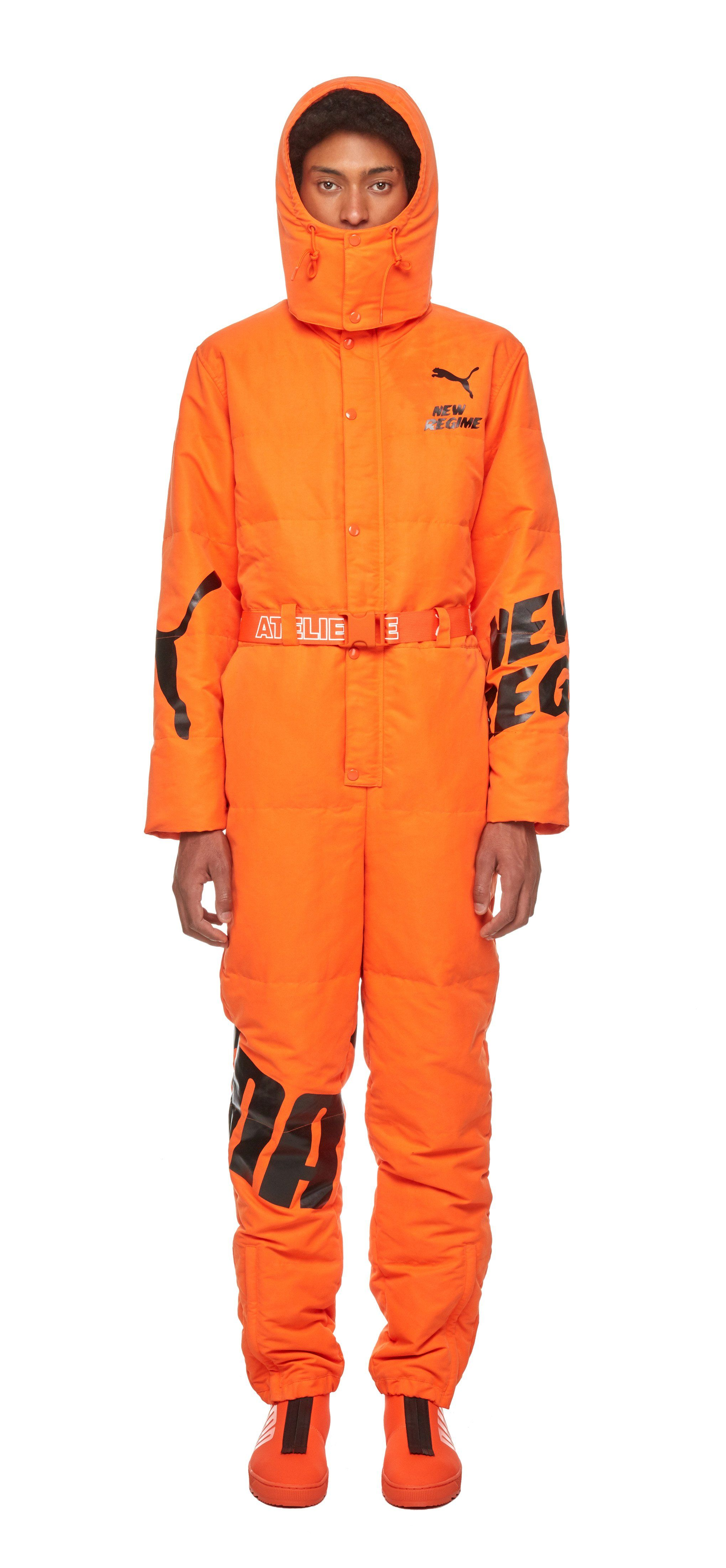 66e927e52744 PUMA X ANR Overall   This PUMA x ANR motorsport inspired one-piece snowsuit  features