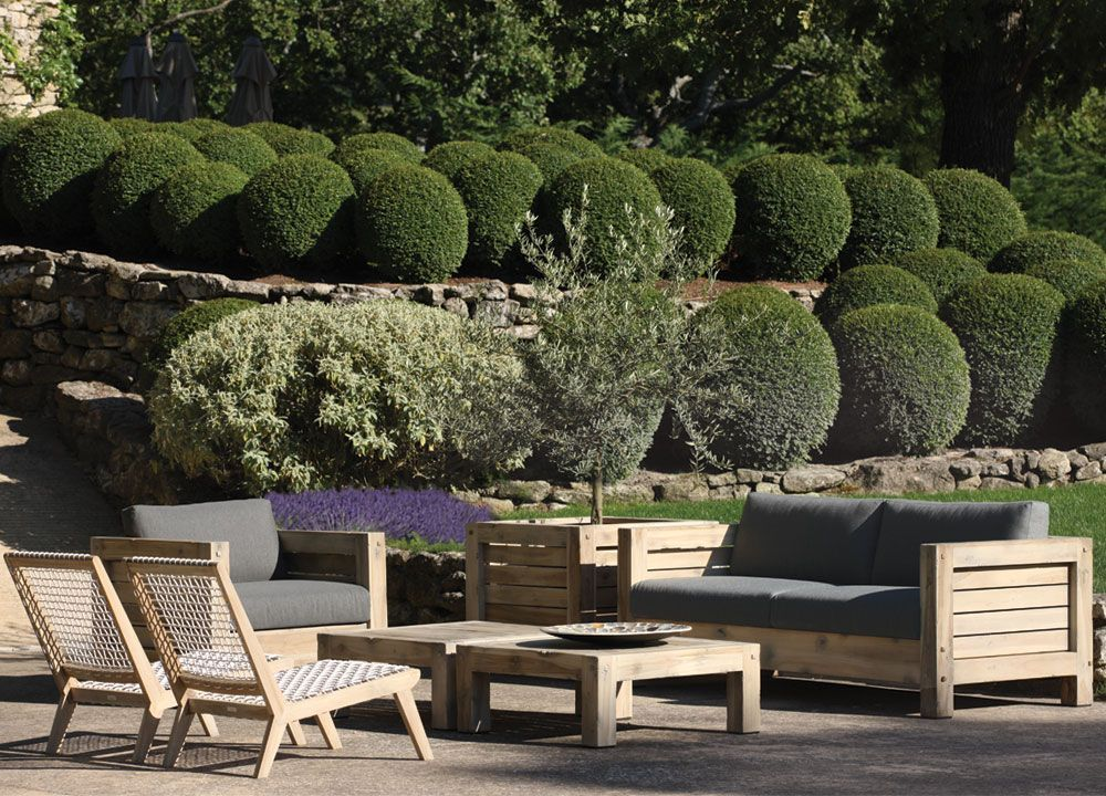 This gorgeous outdoor seating area was completed by Teak ... on Fine Living Patio Set id=48432